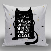 Bantal Dekorasi Sofa / Mobil Alphabet - Cat Quote