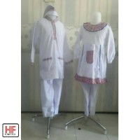 Seragam Anak Tk/Baju Muslim TK Paud Putih Kombinasi Kotak Murah