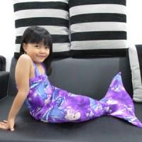 Baju Kostum Renang Mermaid / Putri Duyung Anak Motif