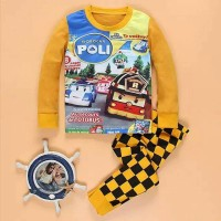Robo Car Poli Setelan Baju Anak