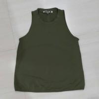Blouse Halter Neck Top/Baju Atasan Hijau Wanita Preloved
