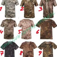 Kaos Army Doreng Import; Tactical T Shirt Kamuflase Kryptek Militer