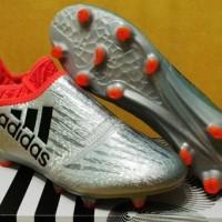 Sepatu Bola / Soccer Adidas X 16+ Silver - FG