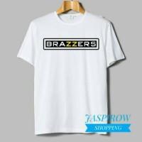 KAOS T-SHIRT BRAZZERS WHITE - JASPIROW SHOPPING