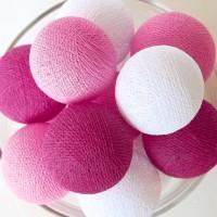 Cotton Ball Light LED - Pink Tone