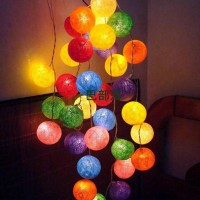 Cotton Ball Light LED - Rainbow Tone - Lampu Benang - Lampu Tidur