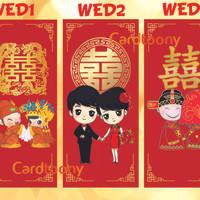 Angpao / Angpau / Amplop / Hongbao Chinese Wedding Pernikahan Tionghoa
