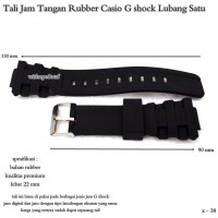 tali jam tangan import rubber cassio gshock lubang satu