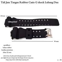 tali jam tangan import rubber cassio gshock lubang dua