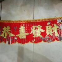 hiasan imlek banner kong xi fa cai