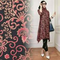 Hijab Set 3in1 Batik Velvet Arumi Red