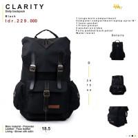 Tas Ransel Punggung Daily Backpack Vintage Mithril Clarity Black