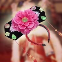 Bando imlek anak putri huan zhu bunga peony chinese new year putriraja