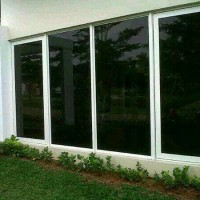 Kaca film Riben Hitam jendela Gedung/acecoris/interior/exsterior