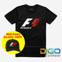 kaos balap f1 / t shirt formula 1 / kaos disto BONUS TOPI Exclusif