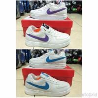 New Sepatu Nike Air Force One cewek full putih polos fullwhite list u