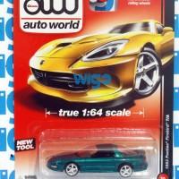 Diecast Auto World 1993 Pontiac Firebird T/A hijau muscle car