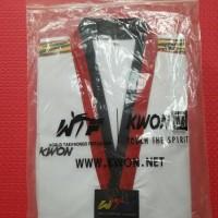 Baju Seragam Dobok Taekwondo Kwon Tiger Poom Kerah Hitam Merah