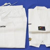 Baju Seragam Dobok Taekwondo Kerah Putih Kwon Victory Bkn Moks Adidas