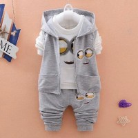 Set Jacket Minion Abu Baju Setelan Anak Terbaru Setelan Anak Cowok