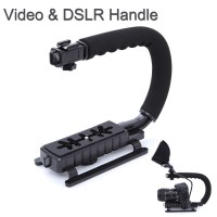 Camera Stabilizer Grip Video Handle C Shape untuk DSLR,mirrorless,dll