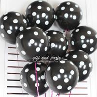 Balon Hitam Polkadot / Balon Latex Polkadot / Balon Polkadot / Balon