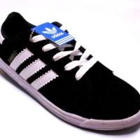 Hot Quality Sepatu Adidas Samba Hitam Garis Strip Putih Size 39 - 43