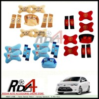 Paket Bantal Mobil - Sarung Seatbelt 9 PCS Vios