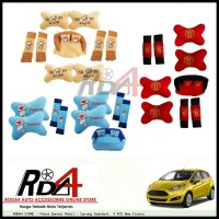 Paket Bantal Mobil - Sarung Seatbelt  9 PCS New Fiesta