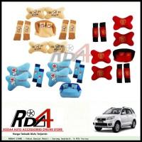 Paket Bantal Mobil - Sarung Seatbelt  9 PCS Terios