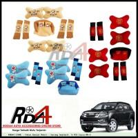 Paket Bantal Mobil - Sarung Seatbelt  9 PCS Isuzu MU-X