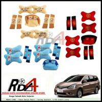 Paket Bantal Mobil - Sarung Seatbelt  9 PCS Grand Livina
