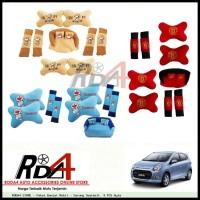 Paket Bantal Mobil - Sarung Seatbelt  9 PCS Ayla