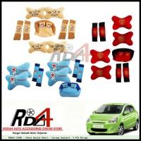 Paket Bantal Mobil - Sarung Seatbelt  9 PCS Mirage