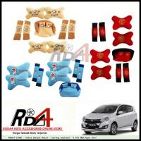 Paket Bantal Mobil - Sarung Seatbelt  9 PCS NEW Ayla 2017