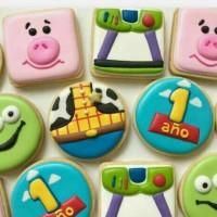 butter cookies dengan icing | kukis hias toy story
