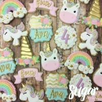 butter cookies dengan icing | kukis hias unicorn ulang tahun