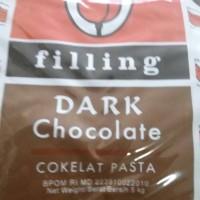 selai coklat tulip filling dark chocolate repack 250 gr
