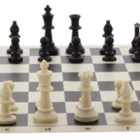 Papan Permainan Catur Gulung Chess Sekak Grandmaster Bidak Skak SMALL