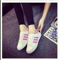 limited edition sepatu kets Replikas adidas putih plat 3 FANTA / PINK