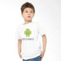 kaos Baju Tshirt  Anak Android