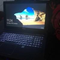 Laptop gaming MSI core i7 gen7 fullset masih garansi