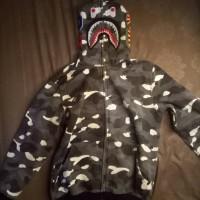 bape hoodie black camo city shark perfect version