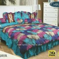 bed cover set my love california warna hijau 180 x 200 ori