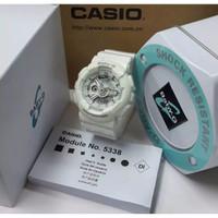 Jam Tangan Wanita / Cewek Casio Baby G Baby-G White Silver Ori BM
