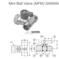 MINI BALL VALVE / STOP KRAN KERAN AIR KECIL SANWA 3 WAY (M-F-M) 1/2