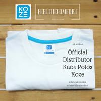 Kaos Polos Premium Comfort Koze Baju Kaos Kemeja Polos White 30's