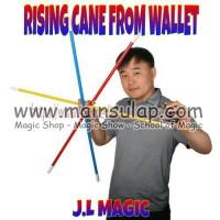 Gimmick Alat Sulap Tongkat Rising Cane from Wallet Magic Trick