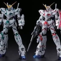 Bandai 1/100 MG Unicorn Gundam Twin frame red green - Titanium finish