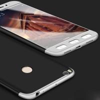 Case Xiaomi Mi Max 2 Slim Hard Full Body 360 Casing Cover Silver-Hitam